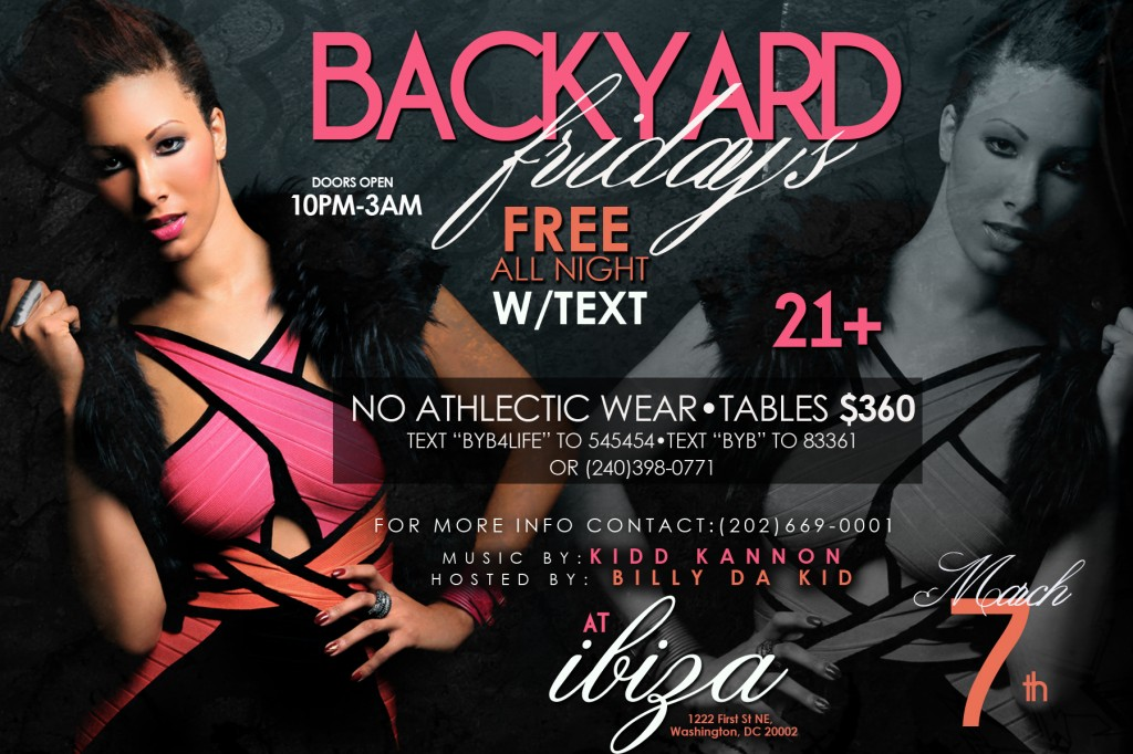 Backyard | Ibiza | Friday March 7 @ Ibiza | Washington | District of Columbia | United States