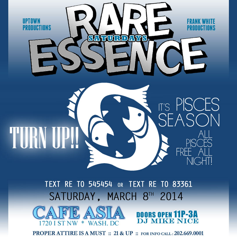 Rare Essence | Cafe Asia | Sat March 8 @ Cafe Asia | Washington | District of Columbia | United States
